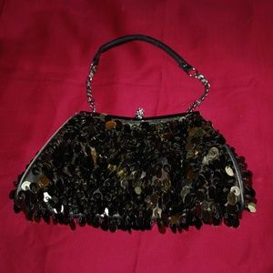 Olive Green Sequin Purse/Clutch